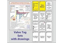 Valve Tag Sets With Drawings