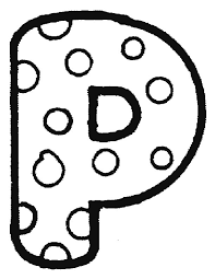 Kleurplaat Letters