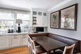 burlap on ceiling kitchen transitional with burlap artwork dark wood dining table white trim