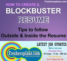 Sample Achievements In Resume For Freshers Resume Tips Sample