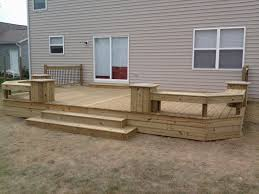 wood deck cost. Low Single Level Deck With Privacy Screen Wood Cost A