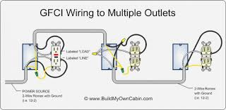gfci multiple outlet wiring diagram gfci image wiring gfi outlets diagram the wiring diagram on gfci multiple outlet wiring diagram