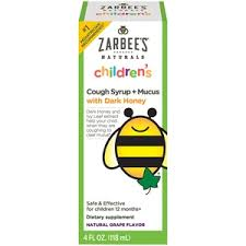 Zarbees Naturals Childrens Cough Syrup Grape Mucus Reducer