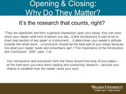 importance of opening and closing paragraphs ppt  2 opening