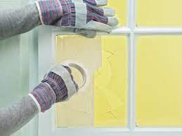 safely break and remove window glass