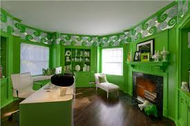 green home office. interesting home sumptuous contemporary home office by guillaume gentet and green o