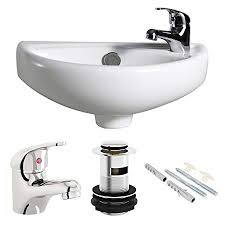 small wall sink. Fine Sink Compact Wall Hung Basin Sink Bathroom Mini Tiny Small Right Hand  Tap U0026  Waste And O