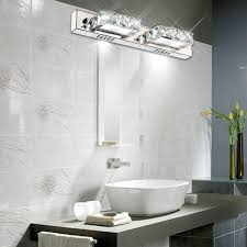 K40 Crystal Bathroom Light Fixtures Led 40W Square Bath Vanity Wall Unique Bathroom Light Sconces