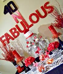 At 40 Party Decorations 40 Fabulous Party A To Zebra Celebrations