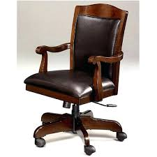 wood leather office chair executive