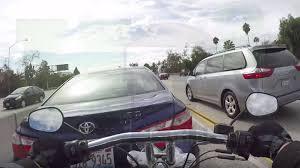 Toyota Camry Cuts Off Motorcycle, Sends Rider Flying Onto Trunk ...