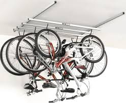 how to hang bike rack in garage designs