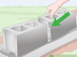 painting cinder block exterior walls elegant how to build a cinder block wall with wikihow of