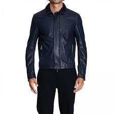 emporio armani men s jacket leather jacket with knitted details giorgio armani jacket m1b04p m1p26 giglio en