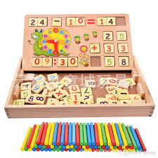 Wooden Math Games 100 Baby Toy Blackboard Counting Stick Wooden Toys Educational 77