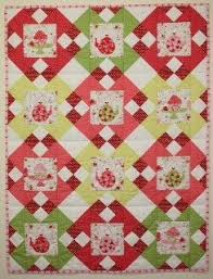 209 best patchwork quilt 2 images on Pinterest | Quilting ideas ... & Fussy Cut - Quilt Pattern // Etsy // Quilt Pattern Strawberries and Tea Cot  Quilt PDF by SewWellMaide Adamdwight.com