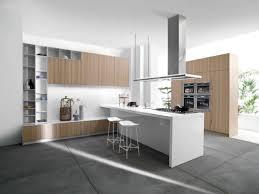 Concrete Floors Kitchen Modern White Kitchen With Concrete Floors In