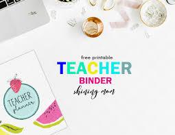 Free Printable Binder Templates Free Teacher Binder Printables Over 25 Pretty Planning