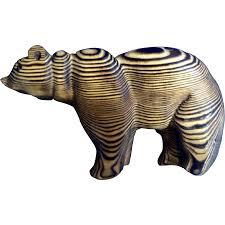 Wood Carved Wall Decor Decorative Vintage Wood Carving Bear Folk Art Wall Decor Animal