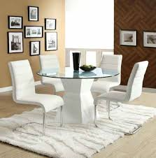 round dining room table white furniture of glass top round dining table ite 1 glass dining