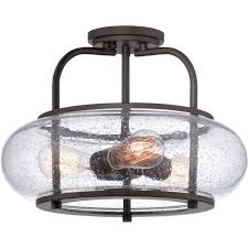 low ceiling light with bronze frame