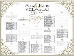 033 Wedding Seating Chart Poster Templates Template Ideas Wp