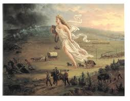 the western hero in the movies american progress by john gast 1872