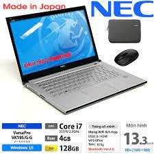 Laptop Nhật Bản NEC Versapro VK19 Core i7, 4gb Ram, SSD 128gb, 13.3inch HD  vỏ nhôm siêu mỏng nhẹ 800gram