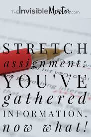 stretch assignment you ve gathered information now what stretch assignment making sense of the information gathered