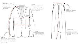 Suit Jacket Size Chart Size Guide Harry Brown Menswear