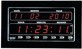 digital wall clock with temperature large electronic and humidity atomic w