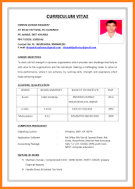11 Curriculum Vitae Example For Job Prome So Banko