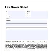Printable Fax Cover Sheet Free Fax Cover Sheet Template Download