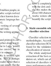 Main Properties Of Arabic Handwritten 1 Written From Right To