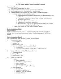 Letter Of Recommendation For Appointment To Board Spahp Alumni Advisory Board Orientation