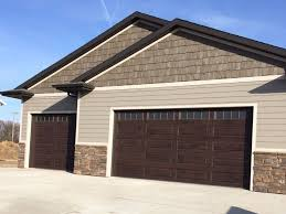 garage doors. New Walnut Colored Garage Doors Sioux Falls SD