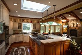 Kitchen With Living Room Design Bath And Kitchen Remodeling Traditional Cottage Kitchen Living