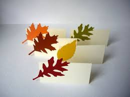 Fall Place Cards Leaf Place Cards Fall Place Cards Autumn Place By
