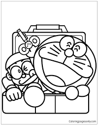 For kids & adults you can print doraemon or color online. Doraemon And Nobita 1 Coloring Pages Doraemon Coloring Pages Free Printable Coloring Pages Online