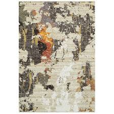 8 x 11 large beige and charcoal area rug evolution