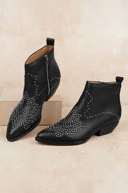 dolce vita dolce vita uma black studded ankle booties