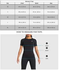 Lululemon Womens Tops Size Chart Womens Size Guide Gymshark