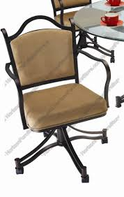 casual dining chairs with casters: tempo industries cambridge swivel amp tilt dining arm chair with casters
