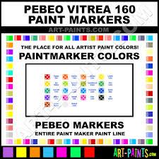 Pebeo Vitrea 160 Color Chart Pebeo Vitrea 160 Paintmarker Marking Pen Colors Pebeo