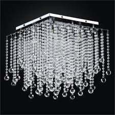 square crystal ceiling light crystal beaded ceiling light cityscape 598b