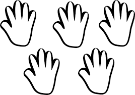 Free Handprint Outline Download Free Clip Art Free Clip Art On