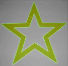 Doppelstern Weihnachtsstern Fluoreszierendes Acrylglas 44