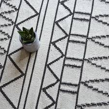 33 homely design black and white geometric rug 100 wool kilim carpet bohemia indian plaid grey striped modern contemporary iran nordic style in from