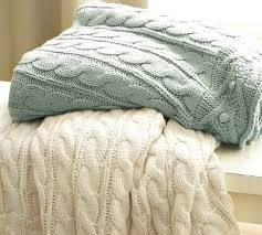 Cable Knit Sweater Throw Blanket