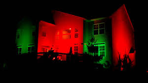 House Flood Lights Christmas Holiday Flood Lights Against House